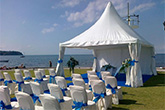 Tents, chair covers, decor